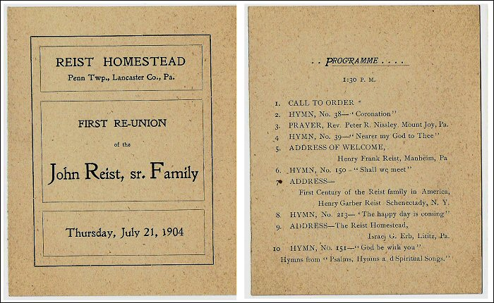 ReistHomestead Program
