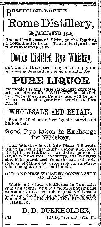 Burkholder whiskeyad