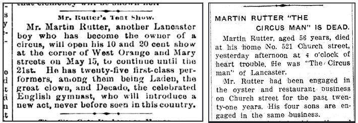 Martin Rutter Circus Lancaster