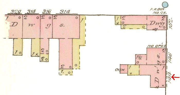 144 North Mulberry Map