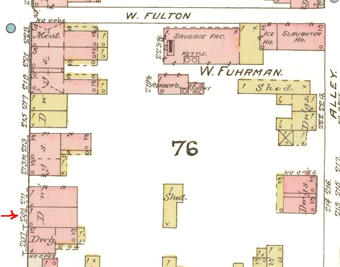 209 North Mulberry St. Map