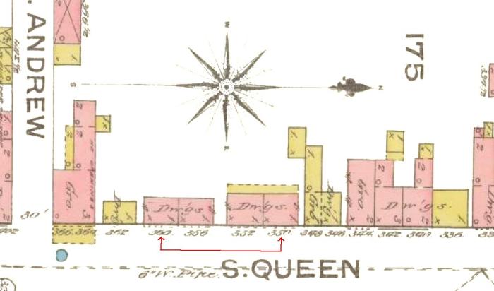 356 South Queen Street Map