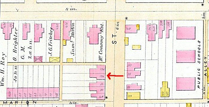 134 N. Charlotte St. Map