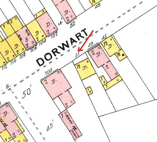 51 Old Dorwart Street Map