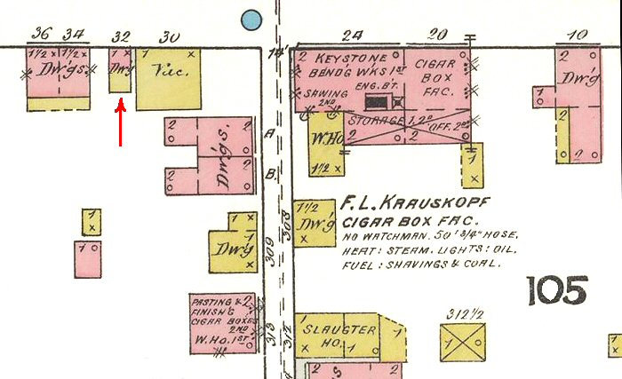 32 North Mulberry St Map